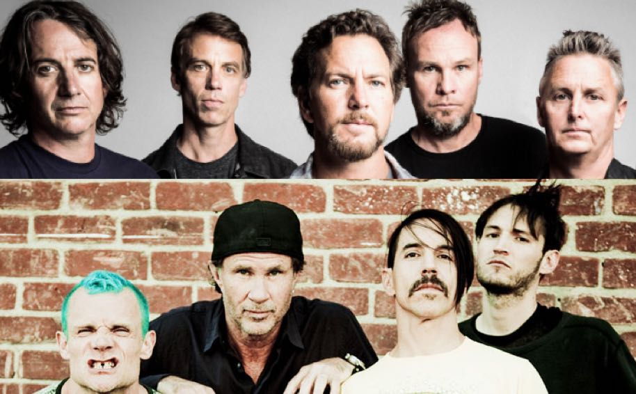 watch pearl jam red hot chili peppers supergroup 39 s epic debut. Black Bedroom Furniture Sets. Home Design Ideas