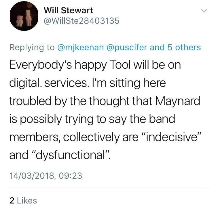 Maynard James Keenan Hints At Tool Tension, Fans 'Troubled