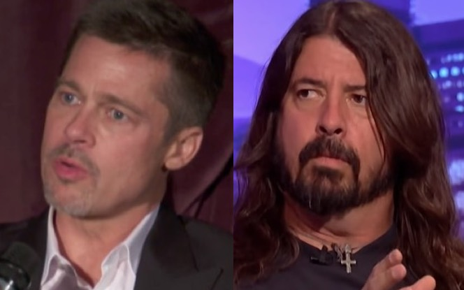 Brad Pitt Has 'Almost Famous' Moment With Foo Fighters